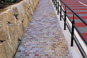 道路に使われる鉄平石
